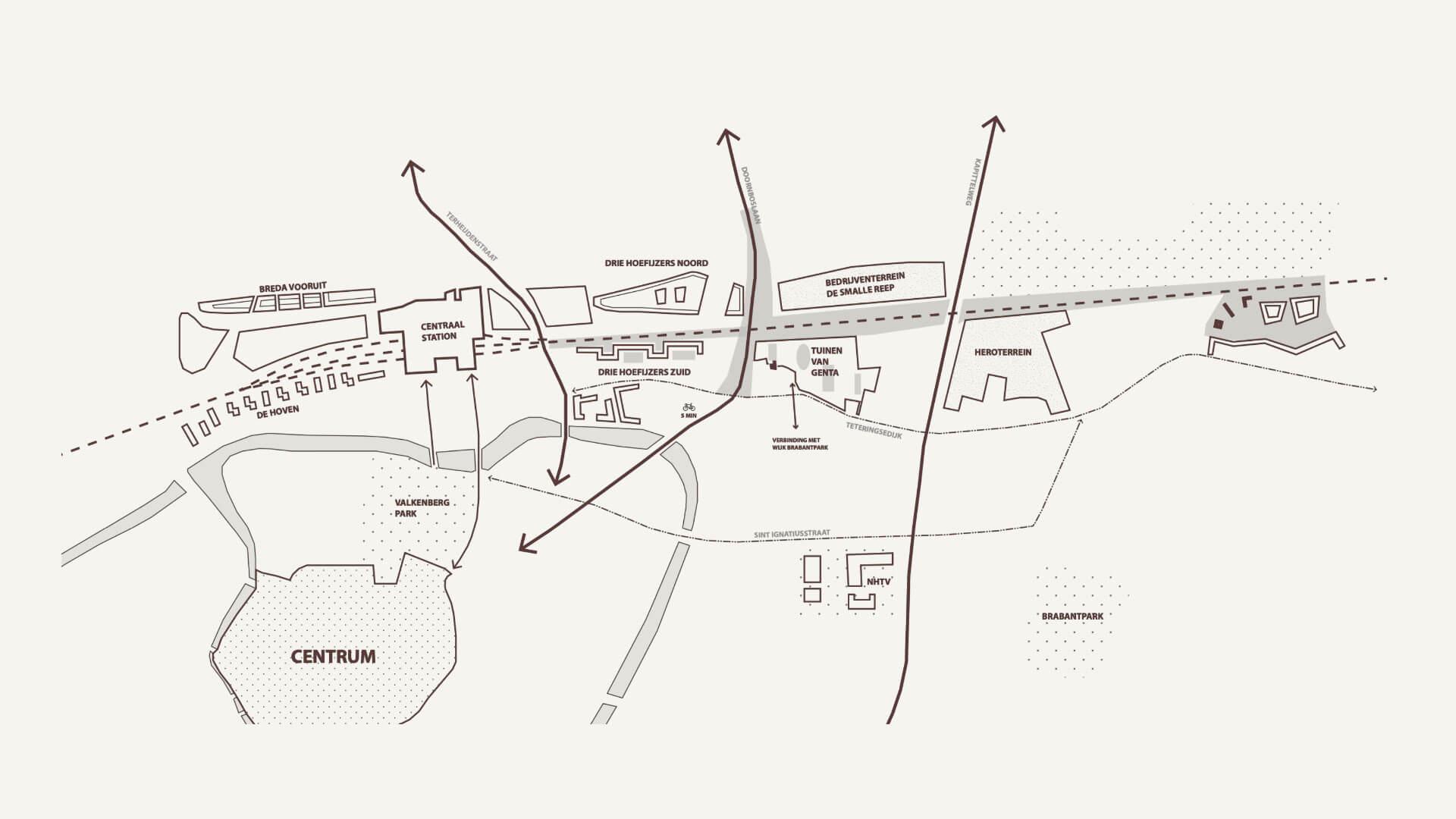 Nieuwbouw - Tuinen van Genta - locatiekaart